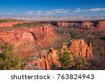 colorado national monument.... | Shutterstock . vector #763824943