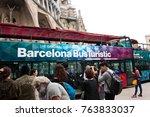 barcelona  spain   october 18 ... | Shutterstock . vector #763833037