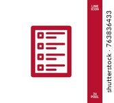 checklist minimal icon. form... | Shutterstock .eps vector #763836433