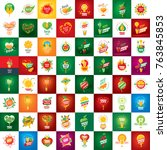 logo of fresh juice | Shutterstock .eps vector #763845853