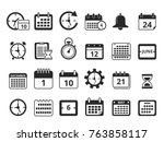 different monochrome symbols of ... | Shutterstock .eps vector #763858117