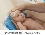 hygiene and care for baby.... | Shutterstock . vector #763867753