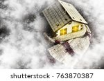 environmentally friendly warm... | Shutterstock . vector #763870387