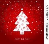new year card | Shutterstock .eps vector #763876177