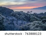 hazy colorful sunset over the... | Shutterstock . vector #763888123