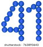 numeral 41  forty one  from... | Shutterstock . vector #763893643