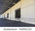 a loading dock or loading bay... | Shutterstock . vector #763901113