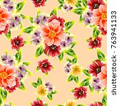 abstract elegance seamless... | Shutterstock .eps vector #763941133