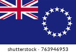 cook flag  official colors and... | Shutterstock .eps vector #763946953