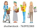 fashion shopping the...   Shutterstock .eps vector #763952383