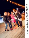 blurred for background. ibiza... | Shutterstock . vector #763968013