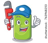plumber soft drink character...