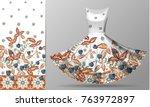 seamless vertical raspberries...   Shutterstock .eps vector #763972897
