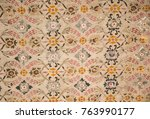 floral art pattern example of... | Shutterstock . vector #763990177