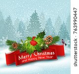vector illustration for merry...   Shutterstock .eps vector #763990447
