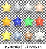 set of christmas stars of... | Shutterstock .eps vector #764000857