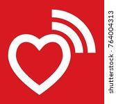 romantic signaling   heart... | Shutterstock .eps vector #764004313