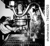 Barista Cafe Making Coffee ...