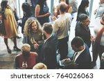 business people meeting eating...   Shutterstock . vector #764026063