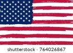 grunge american flag. | Shutterstock .eps vector #764026867