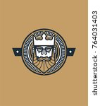 king head vector with... | Shutterstock .eps vector #764031403