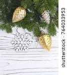 new year background with a... | Shutterstock . vector #764033953