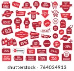 special offer 25   sale banners ... | Shutterstock .eps vector #764034913