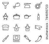 thin line icon set   funnel ... | Shutterstock .eps vector #764050723
