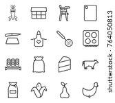 thin line icon set   dna modify ... | Shutterstock .eps vector #764050813