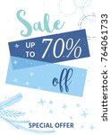 winter social media sale... | Shutterstock . vector #764061733