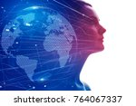 ai  artificial intelligence ... | Shutterstock . vector #764067337