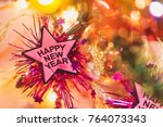 happy new year and christmas... | Shutterstock . vector #764073343