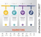 timeline infographics. template ... | Shutterstock .eps vector #764113807