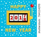 happy new year 2017 changing... | Shutterstock .eps vector #764114293