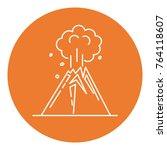 volcano eruption icon in thin...   Shutterstock .eps vector #764118607