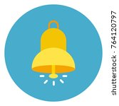 bell ringing icon web button on ... | Shutterstock .eps vector #764120797