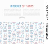 internet of things concept with ... | Shutterstock .eps vector #764121427