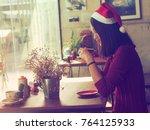 portrait beautiful asian woman... | Shutterstock . vector #764125933