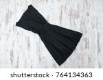 little black dress. wooden... | Shutterstock . vector #764134363