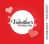 valentines day background red... | Shutterstock .eps vector #764135227