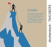 businessman standing on the...   Shutterstock .eps vector #764138293