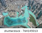 top view of dubai downtown and...   Shutterstock . vector #764145013