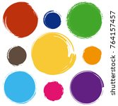 colorful sale tags in grunge... | Shutterstock . vector #764157457