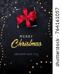 marry christmas and happy new... | Shutterstock .eps vector #764161057