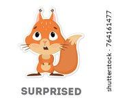 Isolated Surprised Squirrel....