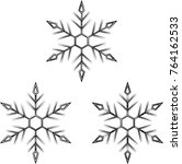 snowflake calligraphic  snow ... | Shutterstock .eps vector #764162533
