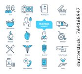 healthcare thin line icons ... | Shutterstock .eps vector #764168947