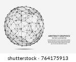 sphere  vector illustration for ... | Shutterstock .eps vector #764175913
