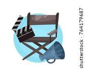 film director profession icon ... | Shutterstock .eps vector #764179687