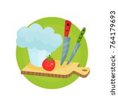 chef profession icon  chef hat... | Shutterstock .eps vector #764179693